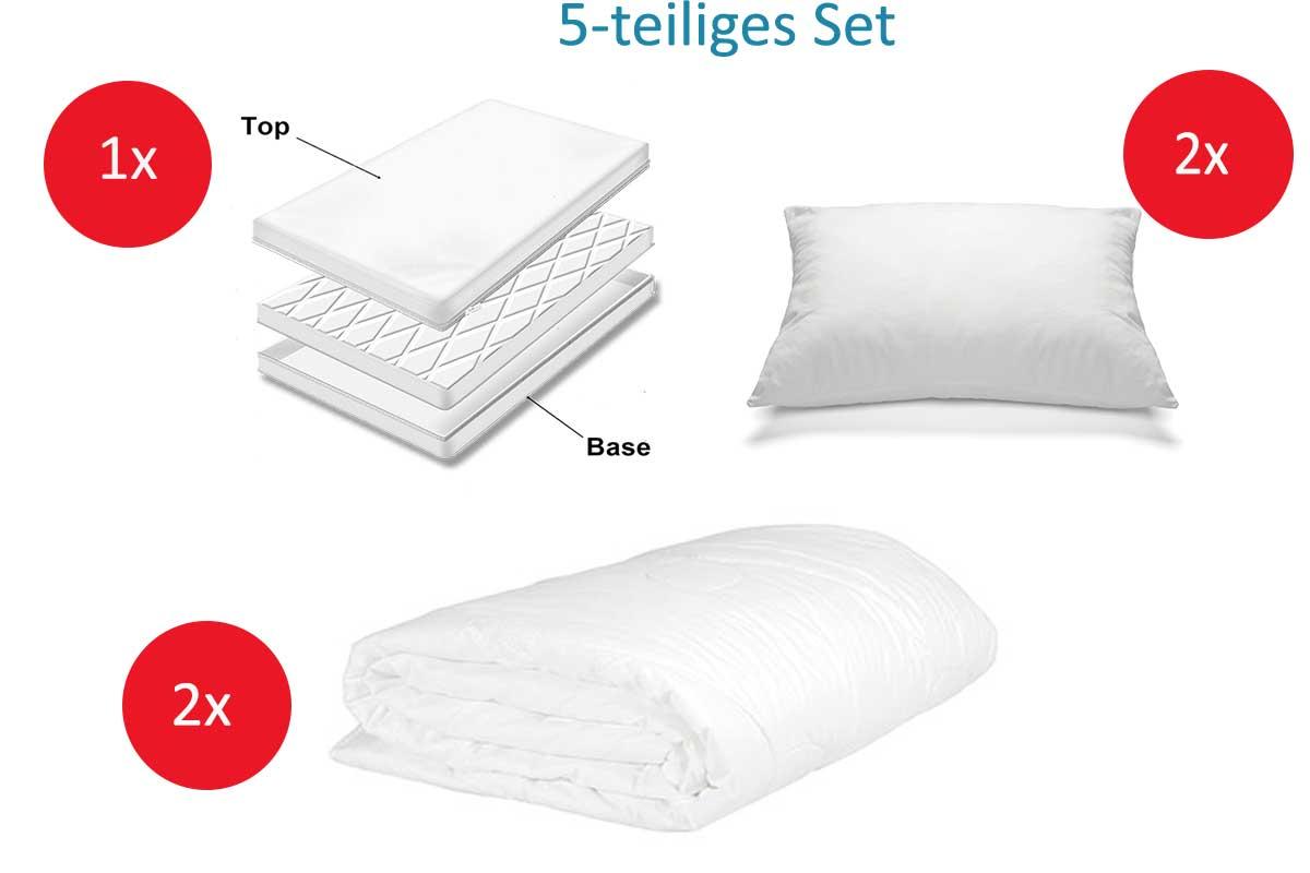 5 tlg anti milben encasing set f r erwachsene base top double encasing set f r kinder. Black Bedroom Furniture Sets. Home Design Ideas