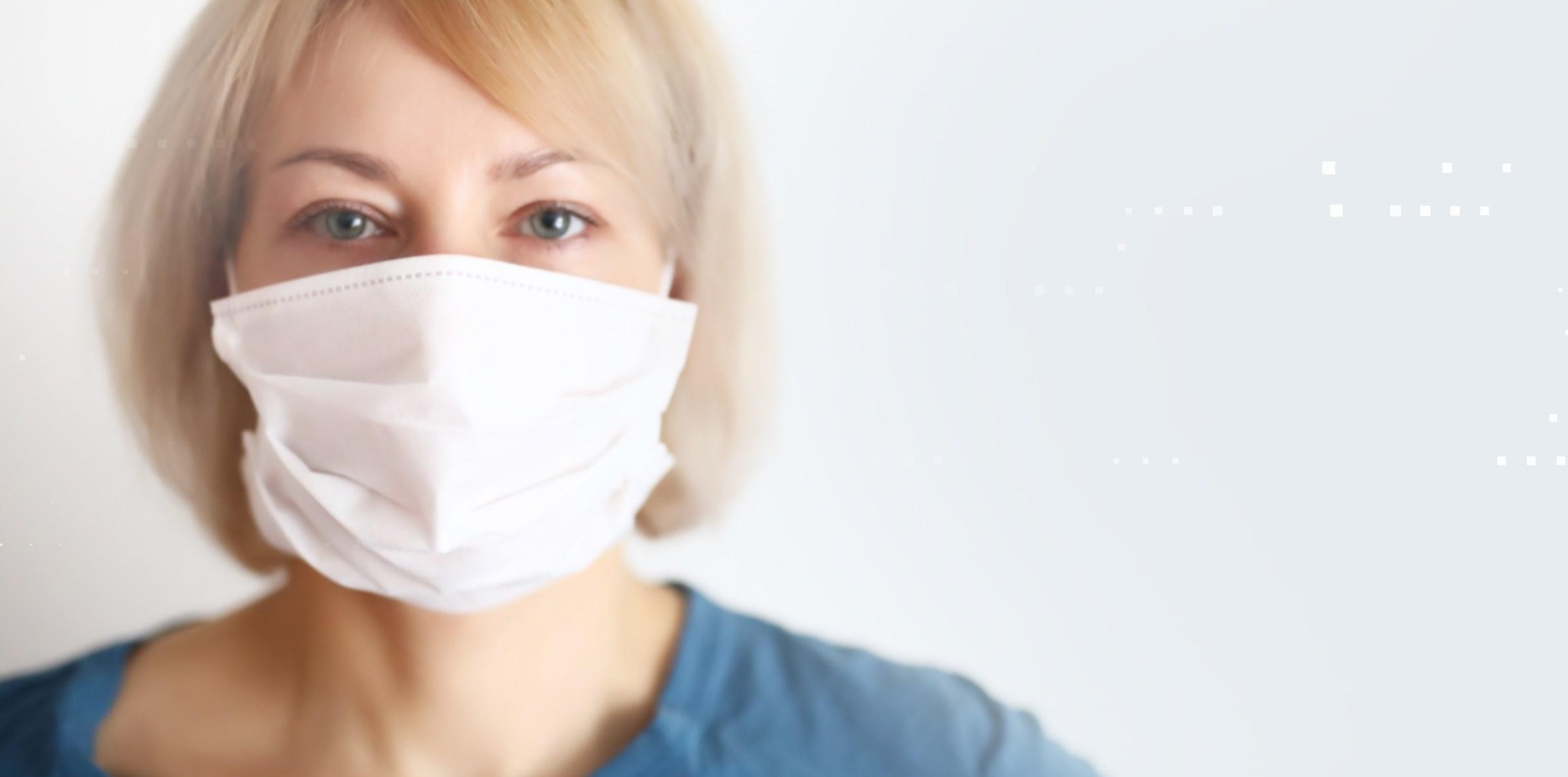 Mund-Nasen-Maske mit Bindeband (5er Pack)